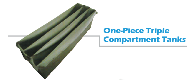 one-piece triple compartment liners